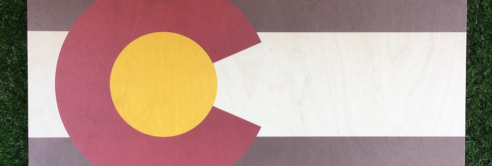 Rustic Colorado Flag