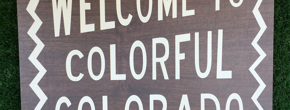 Welcome to Colorful Colorado Wall Hanging