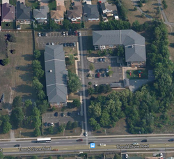 Shriners Creek Co-op from the air