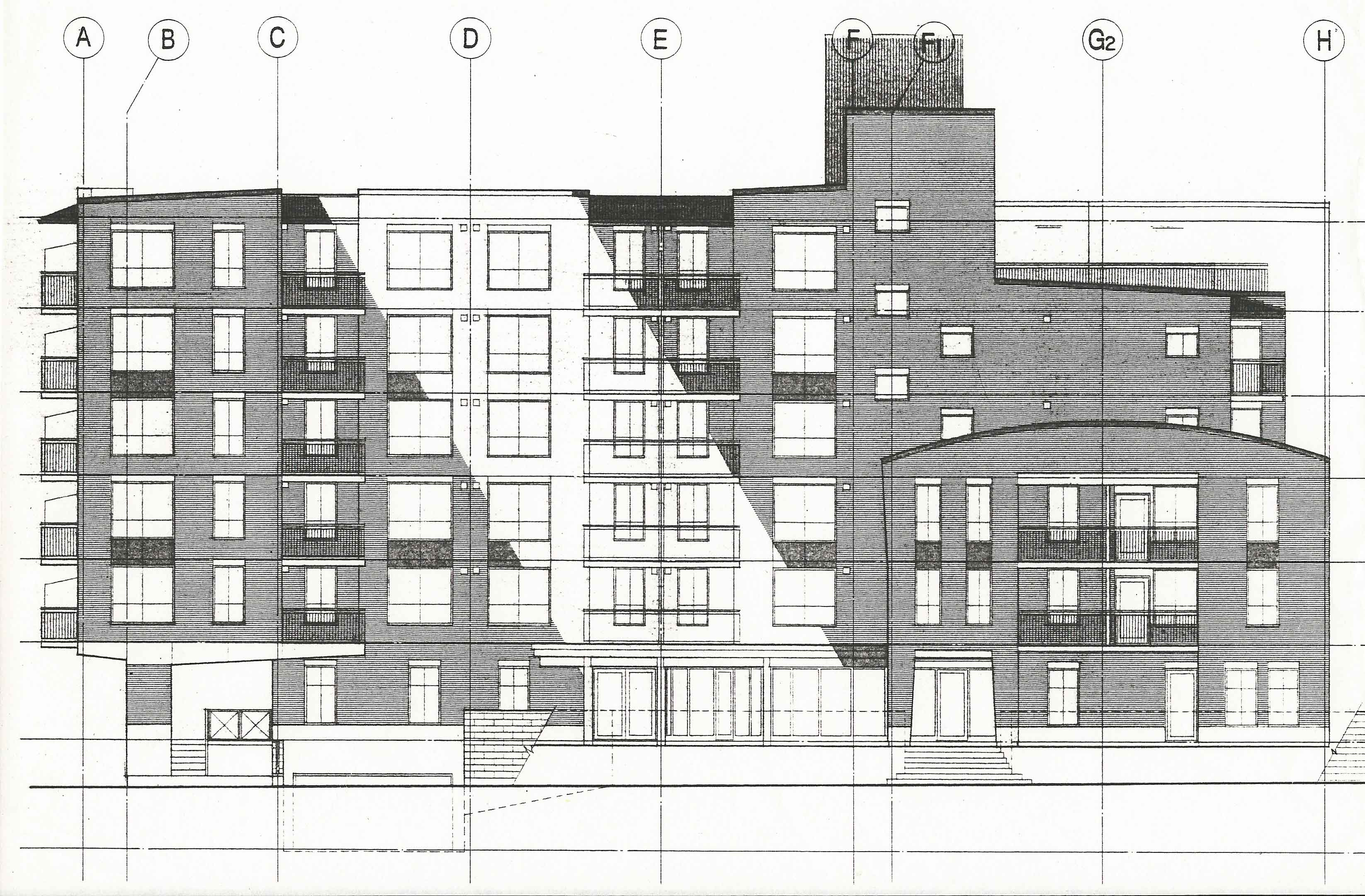 Emmaus Place street elevation, 1993