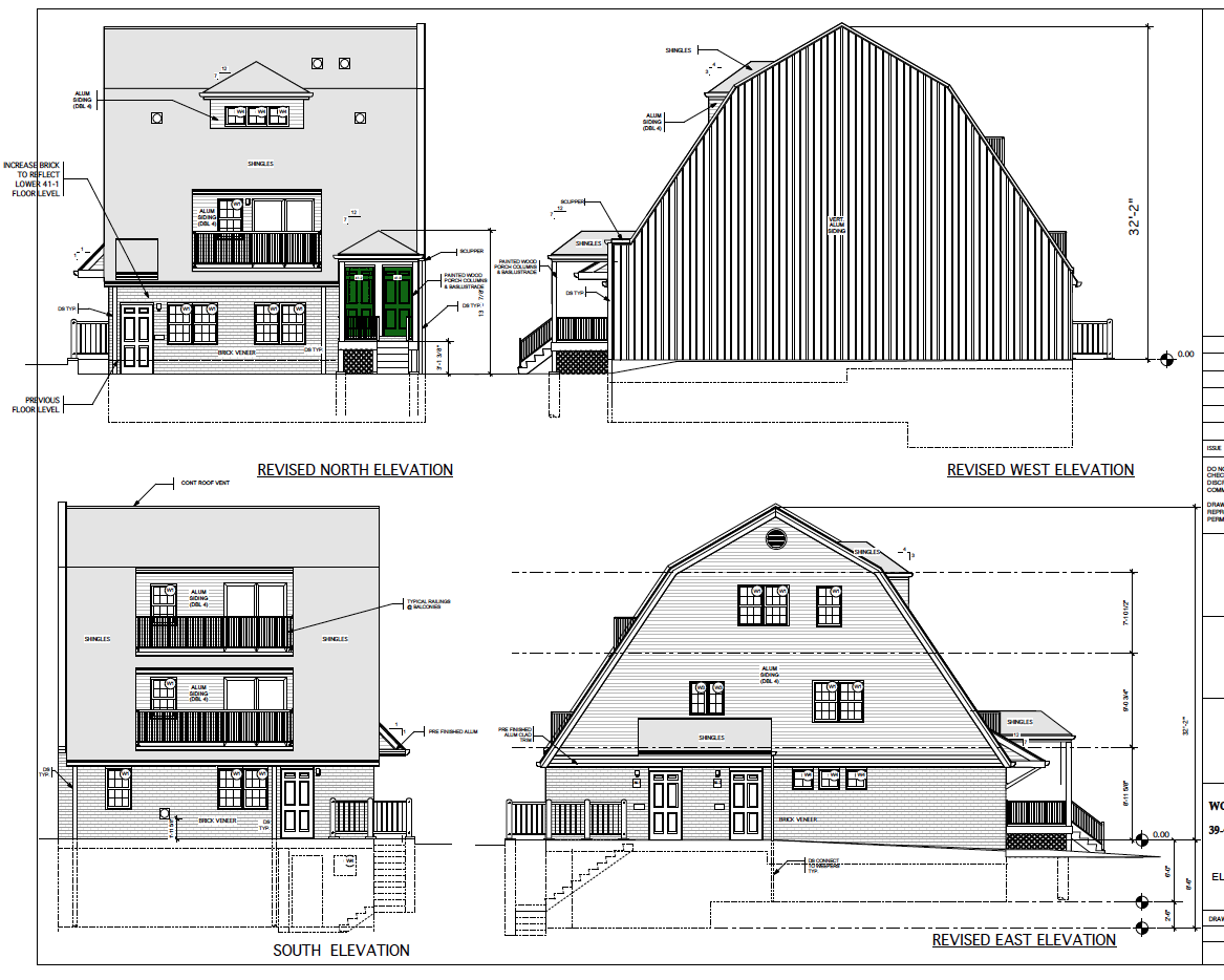 Norman Avenue elevations