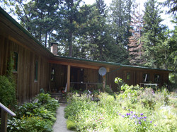 Front view, house on Galiano Island