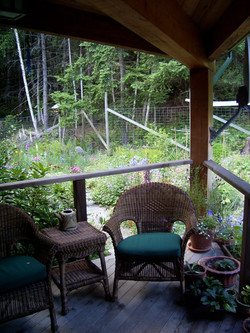 Porch, house on Galiano Island, BC