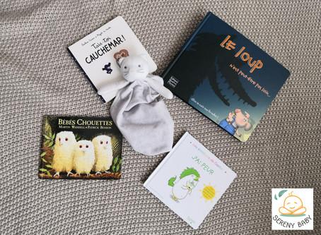 Livres qui parlent de la séparation, des cauchemars et des peurs