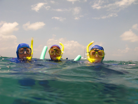 Snorkling and Swimming Cornish style