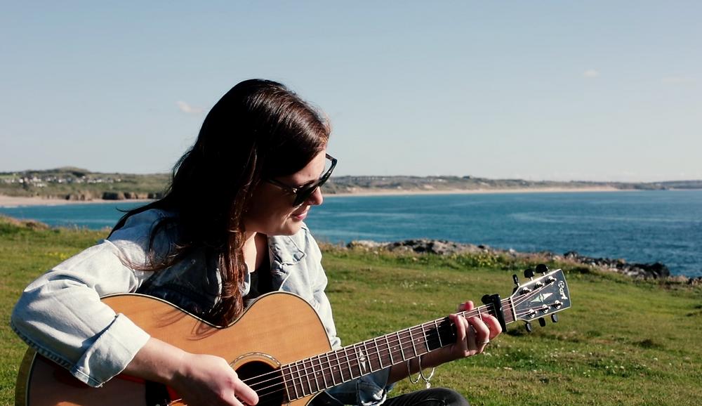 Rosanna Lea Playing Guitar