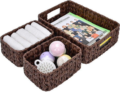GRANNY SAYS Hand-Woven Storage Baskets, Imitation Wicker Baskets with Handles.