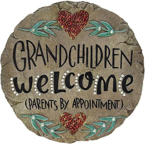 Carson Home Accents Beadworks Grandchildren Welcome Garden Stone
