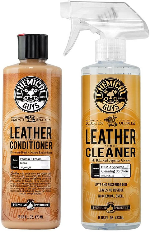 Chemical Guys SPI_109_16 Leather Cleaner and Leather Conditioner Kit for Use on