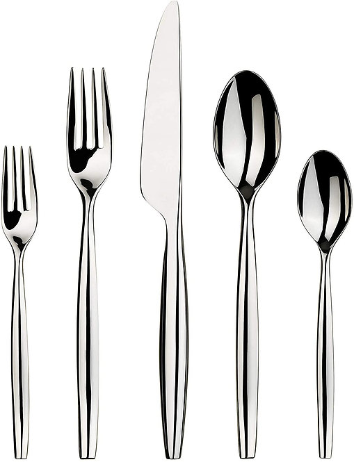 Gourmet Settings 20-Piece Silverware Lance Collection Polished Stainless Steel F