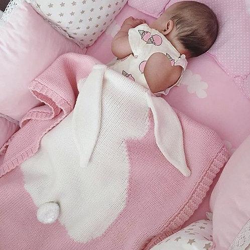 SUNBABY Kids Blankets, Cute Rabbit Crochet Newborn Blanket Baby Bedding Cover