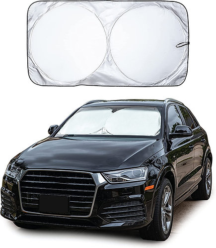 EcoNour Car Windshield Sun Shade with Storage Pouch  