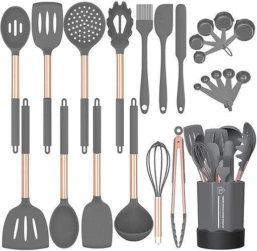 Silicone Cooking Utensil Set, Fungun 24pcs Silicone Cooking Kitchen Utensils.