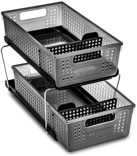madesmart 2-Tier Organizer with Dividers - BATH COLLECTION Antimicrobial.