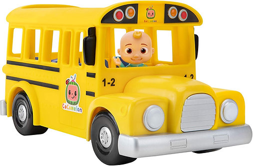 Cocomelon Official Musical Yellow School Bus, Plays Clips from 'Wheels