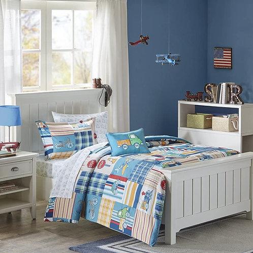Mizone Kids Choo Choo Charlie Full Kids Bedding Sets for Boys - Blue