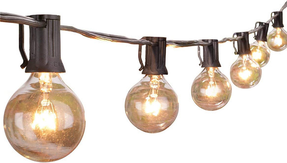 Outdoor String Light 50Feet G40 Globe Patio Lights with 52 Edison Glass Bulbs