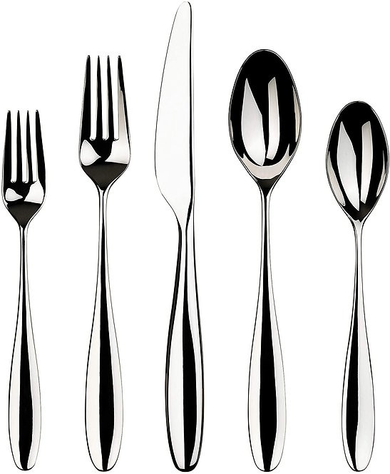 Gourmet Settings 20-Piece Silverware Willow Collection Polished Stainless Steel