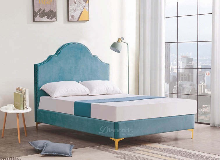 VIOLET Velvet Upholstered Bed Frame