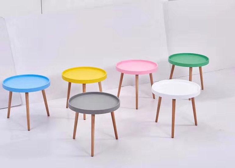 AIDA Multi-Colour Round Bedside Table