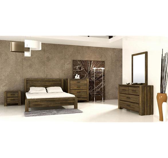 PHILIP Solid Acacia Queen Bedroom 4pcs Set