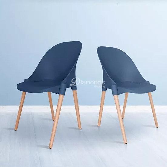 FRAYDA Blue Round Back Chair