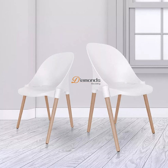 FRAYDA White Round Back Chair