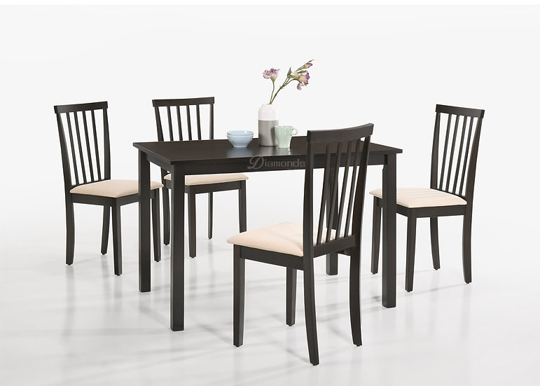 CAPPUCCINO Dining Table with 4 Chairs