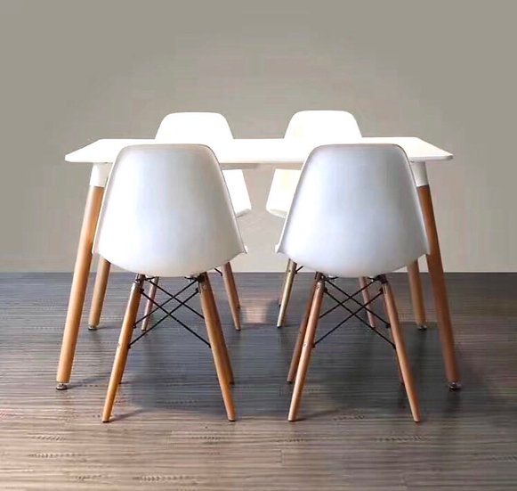 Modern Design Dining Table with 4 Chairs