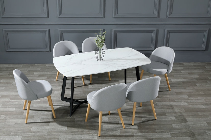 EMMA Imitation Marble Dining Table