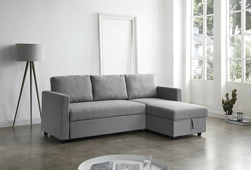 LOUIS I L-Shaped Sofa Bed with Storage