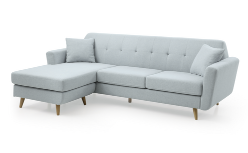 Modern Fabric Two Seater Sofa With Chaise