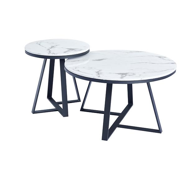 Cross-legged Marble top Coffee table