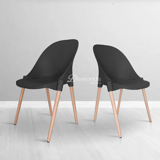 FRAYDA Black Round Back Chair