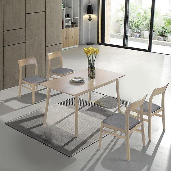 Mia Bella Dining Table Set/WHITE WASH