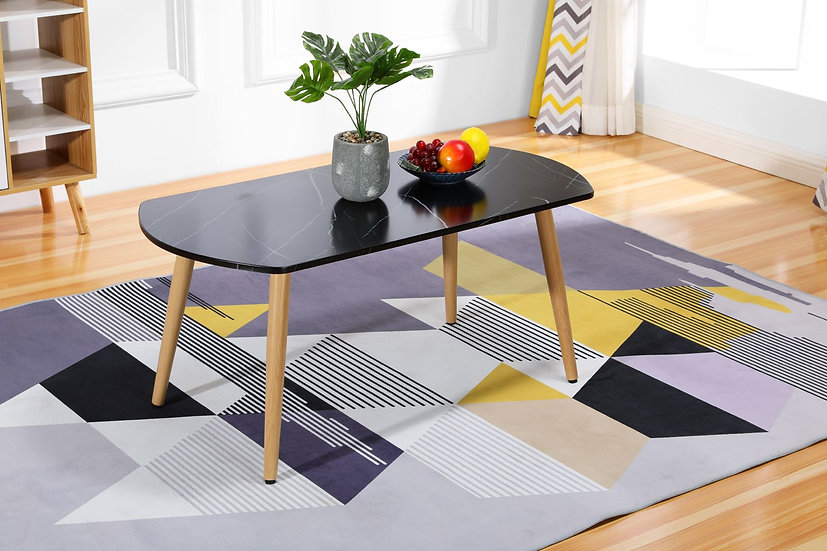 VADER Imitation Marble Coffee Table - Black