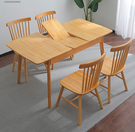 Lee  Wood Extendable Dining Table