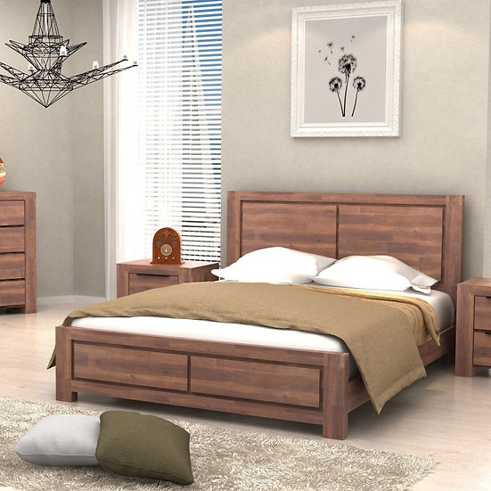 ASTRO Solid acacia Bed Frame - Queen