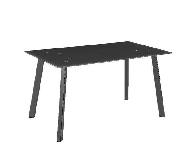 Black High Gloss Glass Dining Table