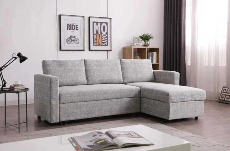 LOUIS II L-Shaped Sofa Bed with Storage