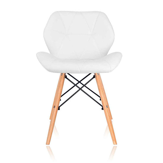 Noora PU Leather Dining Chair (Set of 2) - White