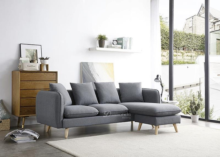 OSLO 3 Seater Fabric Sofa with Adjustable Chaise