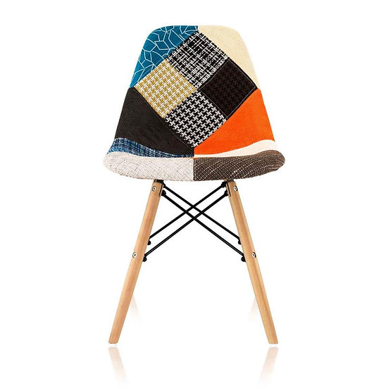 Multi-Coloured Edlin Fabric Dining Chairs (Set of 2)