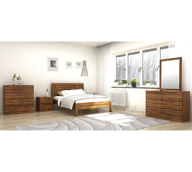 AUSTRIA Solid Acacia Queen Bedroom 4pcs Set