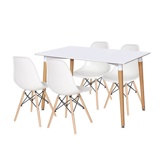 Modern Design Dining Table with 6 Chairs