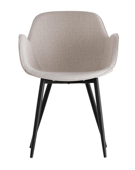 Grey Fabric and Leather Dining Chairs (Set of 2)