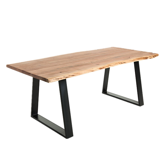 Solid Timber & Steel Dining Table