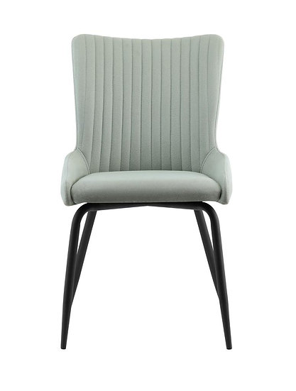 High Back Light Grey Fabric Dining Chair (Set of 2)