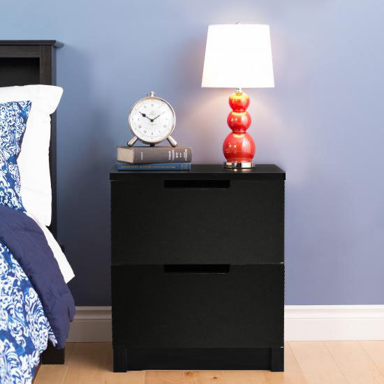 CAYO Bedside Table Black