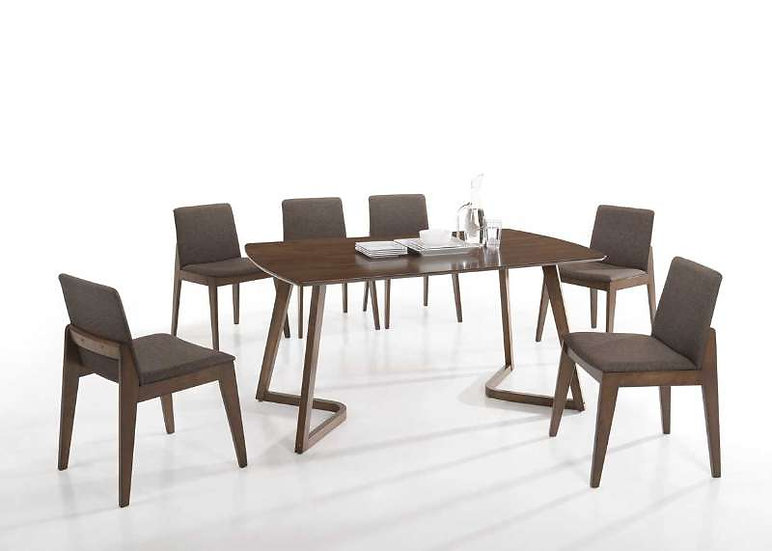 ADAM Dining Table with 6 Chairs